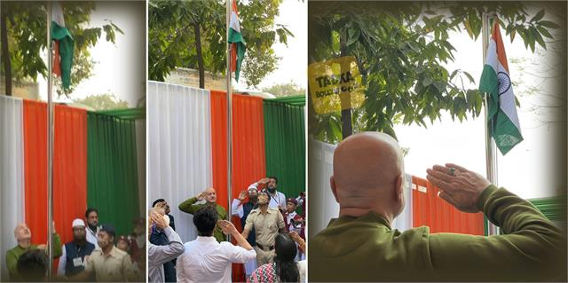 anupam kher celebrate 72nd republic day with flag hoisting