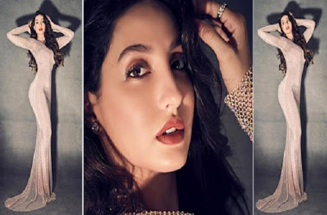nora fatehi shares hot photos and video in transparent dress