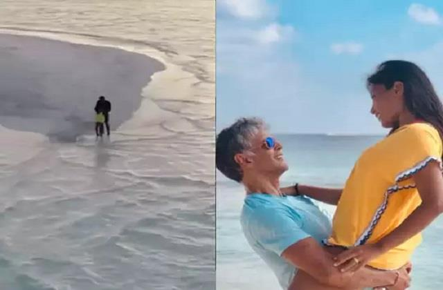 ankita konwar shares throwback maldives video with husband milind soman