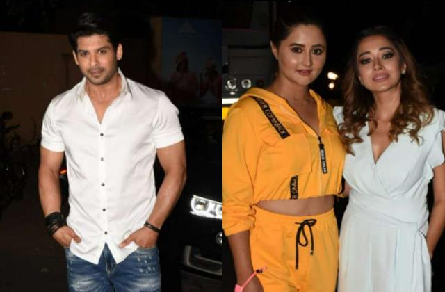 sidharth shukla rashami desai tina datta spotted at bigg boss 14 set