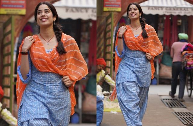 janhvi kapoor share her first look film good luck jerry