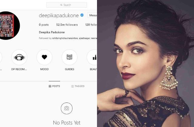 deepika padukone instagram twitter and facebook account empty