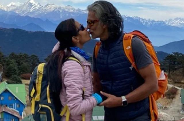 ankita konwar shared romantic photo with husband milind soman