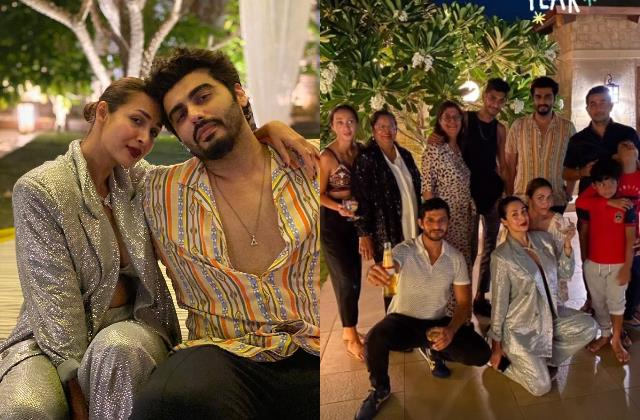 lovebirds malaika arjun celebrate new year with family and friend in goa