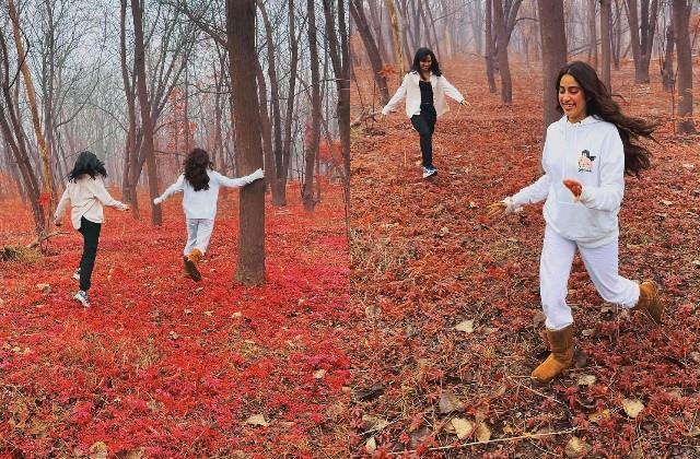 janhvi kapoor enjoyed in forest with friend