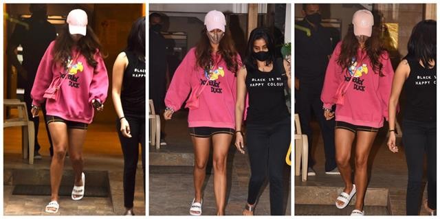 disha patani looked bold in sweatshirt and mini shorts