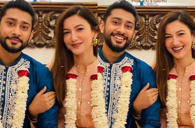 gauahar khan shares photos before wedding when in laws giving surprise