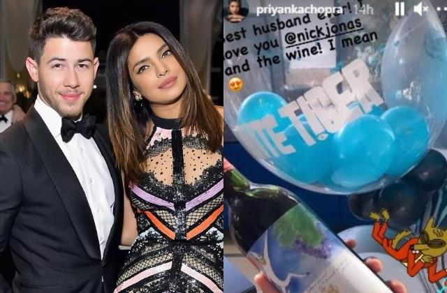 priyanka chopra thanks nick jonas for the white tiger praise and the wine