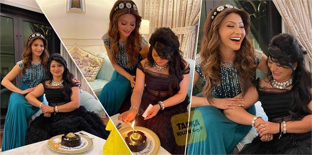 urvashi rautela gave surprise to her mother meera rautela on birthday