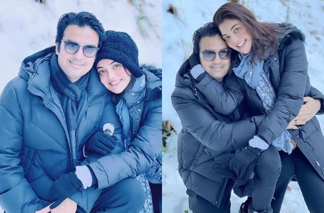 kajal aggarwal shares romantic photos with husband gautam kitchlu from shimla
