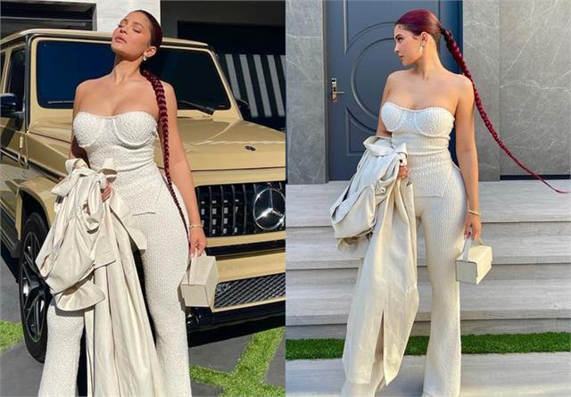 kylie jenner looks stunning in all white attire