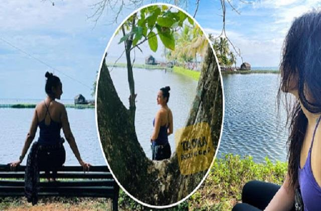 sonakshi sinha celebrating new year with nature