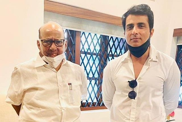 sonu sood meets ncp chief sharad pawar amid alleged illegal construction case