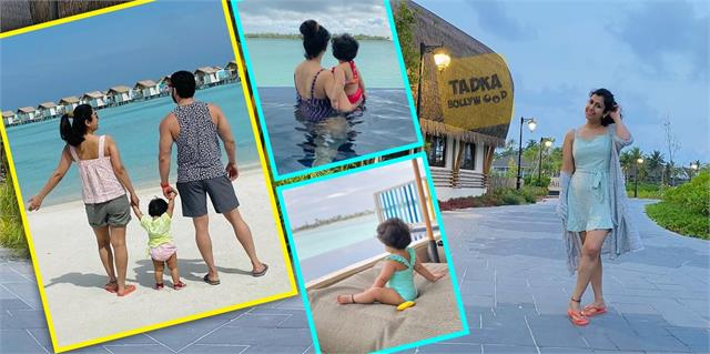 karan patel ankita enjoy first vacation with daughter meher in maldives