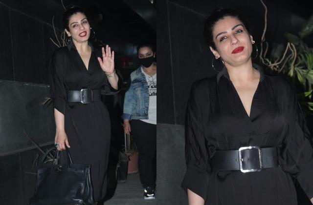 raveena tandon spotted in khar
