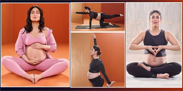 pregnant kareena kapoor hot yoga photoshoot