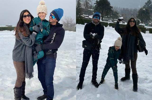 tv actor arjun bijlani enjoys vacation in kashmir with family