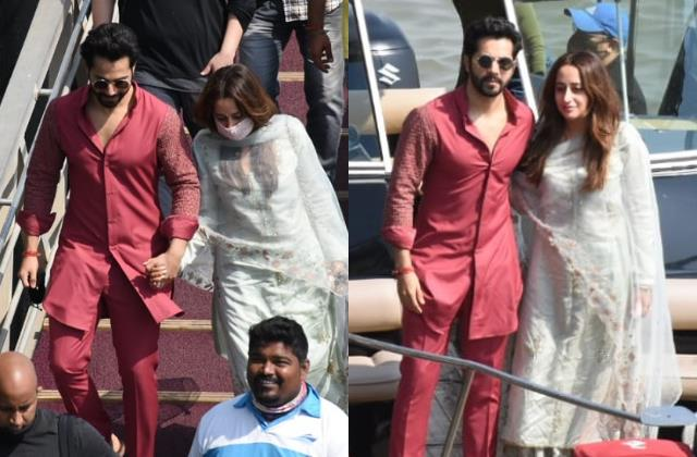 newly wed couple varun dhawan natasha dalal return back to mumbai