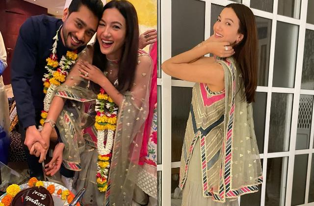 gauhar khan enjoy family daawat with hubby zaid darbar