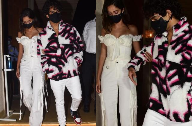ananya panday and ishaan khatter walked hand in hand in deepika birthday bash