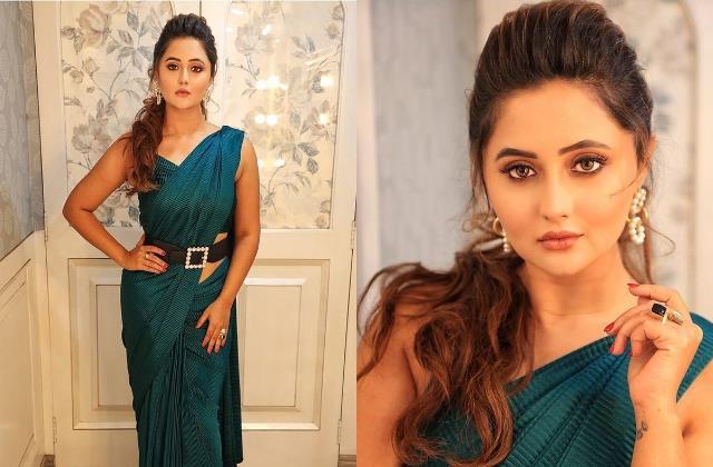 naagin actress rashami desai looks beautiful in saree