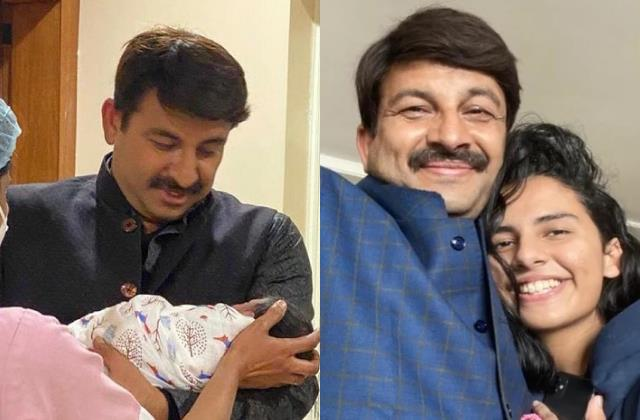 manoj tiwari elder daughter reeti gave name her little sister saanvika