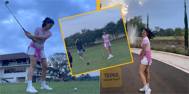 jacqueline fernandez enjoy golf with friends