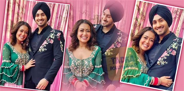 neha kakkar celebrate first lohri with hubby rohanpreet singh after marriage