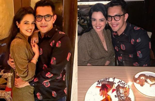 aditya narayan celebrate one month anniversary with wife shweta agarwal