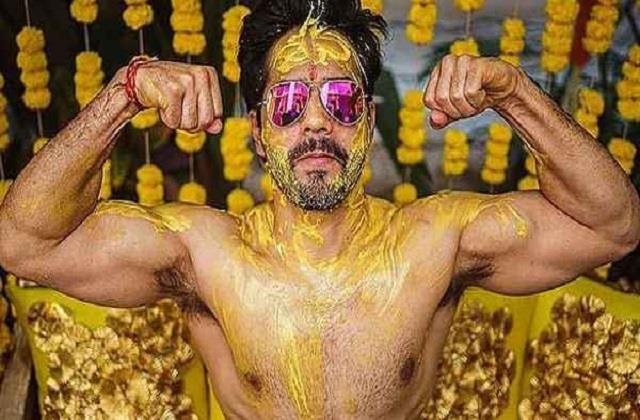 varun dhawan shares haldi ceremony photos