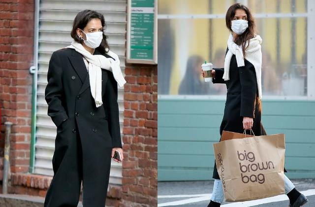 tom cruise ex wife katie holmes spotted at new york city