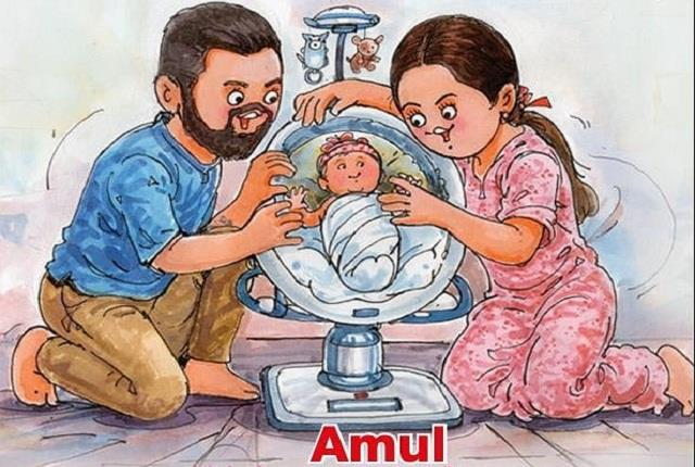 amul congratulates virat anushka for becoming parents in special way
