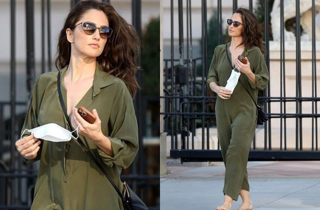 minka kelly looks stunning in jumpsuit