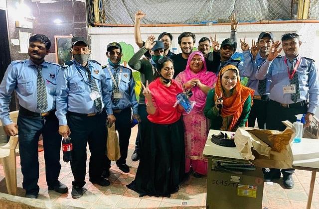dipika kakar shoaib ibrahim celebrate new year with security guards