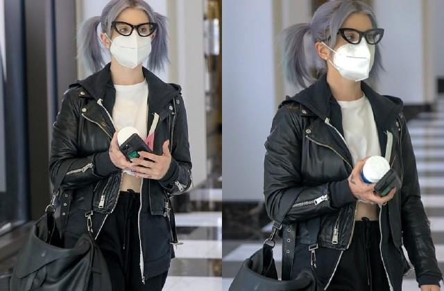 kelly osbourne spotted at beverly hills