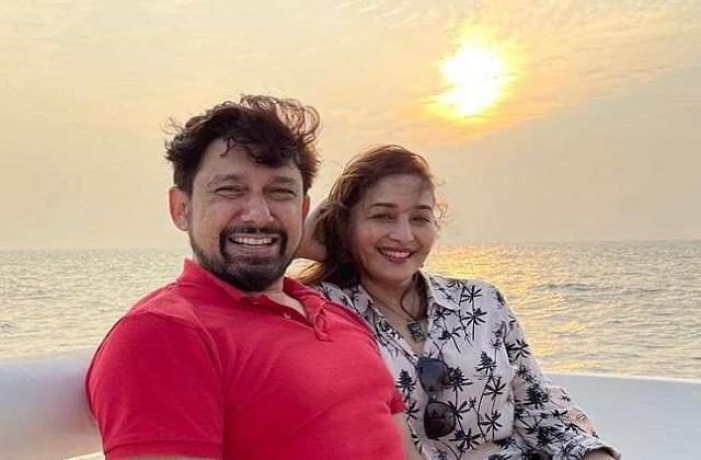 madhuri dixit shares beautiful photo with husband sriram nene