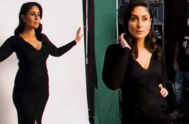 kareena kapoor shares video in black dress