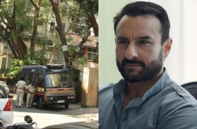 police deployed outside saif ali khan house