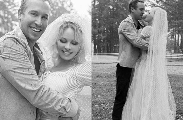 hollywood actress pamela gets married for 6th time with bodyguard dan hayhurst