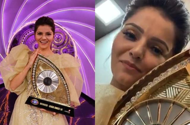 bigg boss 14 winner rubina dilaik do first live after show thanks fans