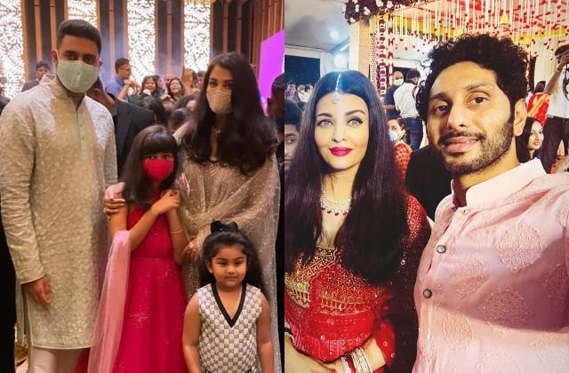 aishwarya rai attend cousin shloka shetty wedding with abhishek aaradhya