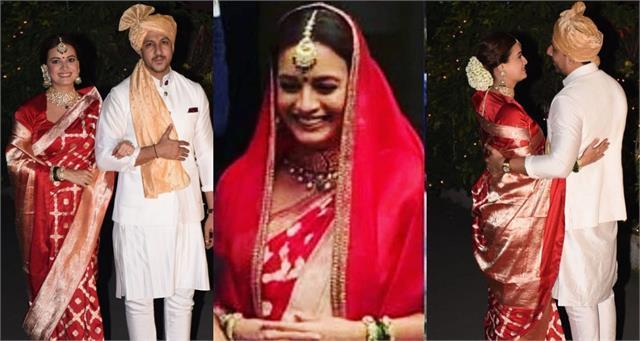 dia mirza vaibhav rekhi wedding pictures actress looks gorgeous in saree