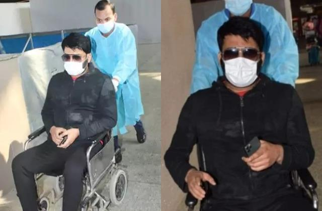 kapil sharma reveal why he was on wheelchair at airport