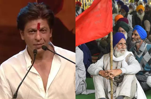 shahrukh khan once said farmers are real hero actor video viral