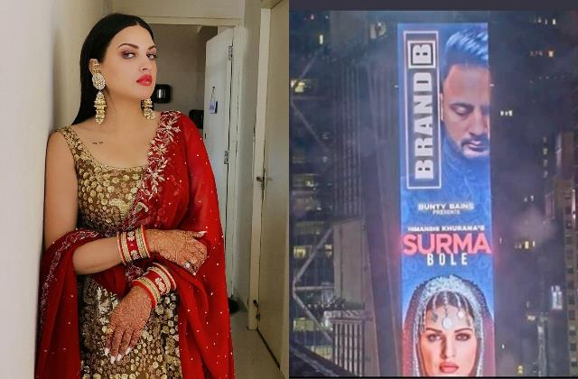 himanshi khurana first punjabi celebrity feature new york iconic times square