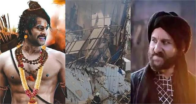 fire breaks out on set of prabhas and saif ali khan starrer adipurush