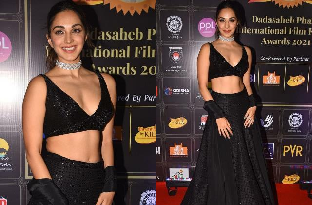 kiara advani looks bold as she attend dada saheb phalke award 2021