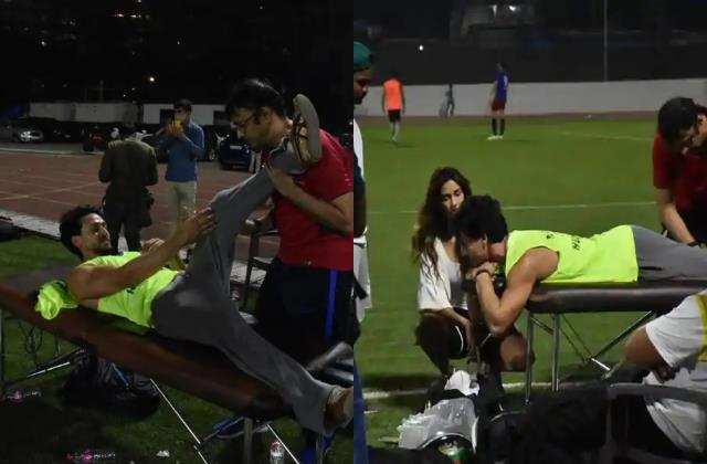 tiger shroff injured during football match disha patani got worried