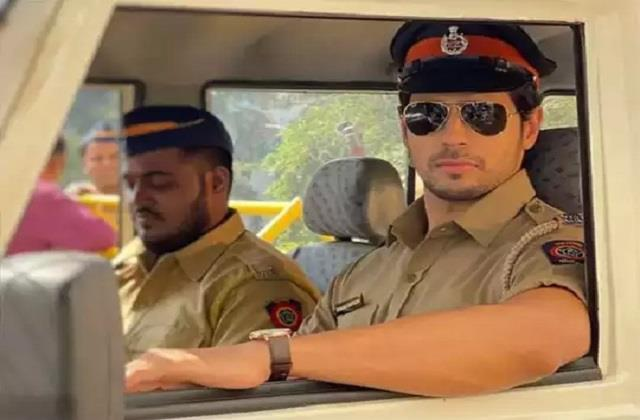 siddharth malhotra shares photo in police officer look from film  thank god