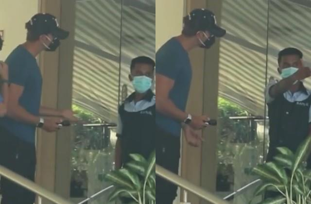 hrithik roshan angry on boy who misbehaving with him at hospital door